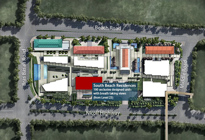 South Beach Residences Jointly Developed By City Developments Limited Ioi Properties